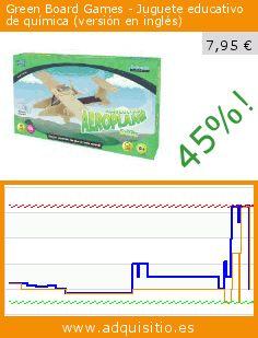 Green Board Games - Juguete educativo de química (versión en inglés) (Juguete). Baja 45%! Precio actual 7,95 €, el precio anterior fue de 14,51 €. https://www.adquisitio.es/green-board-games/avi%C3%B3n-solar-agr%C3%ADcola