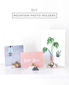 DIY Mini Mountain Photo Holders