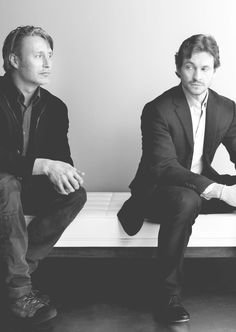 The Cannibal Concierge  Hughs thoughts: is he looking at me like im food again Mads:*intensely counties glaring*