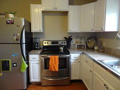 Revamp Homegoods: House to Home: Painting the Cabinets White Kitchen Update