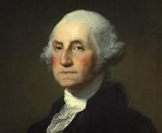 George Washington - portrait by Gilbert Stuart - This was the famous painting Dolly Madison saved  when the British set fire to the White House during the War of 1812.