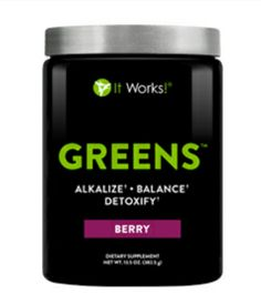 Get multiple servings of fruits and vegetables in every scoop! 2 Scoops in 8 oz of water or juice a day! Berry is the best flavor ;-)