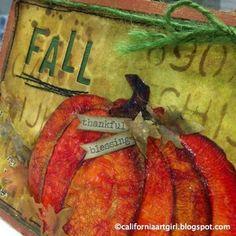 Richele Christensen: Fall Pumpkin Card - Distress Spray Stains