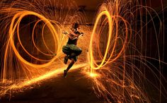 Learn how to tame the fire! Tons of fire poi here  http://theburningpoi.com/ #firepoi #poi #theburningpoi
