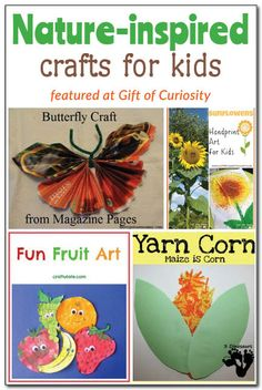 Nature-inspired crafts for kids || Gift of Curiosity