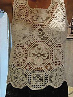 GM两款方格编织的背心 - 蕾妮 - 蕾雨轩
