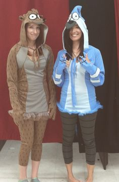 Tried to talk my sister into Mordecai and Rigby (Regular Show) costumes for Halloween.... she was not having it! We planned something else instead. #RegularShow