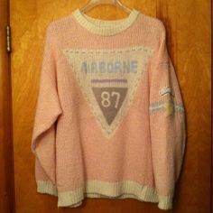 Vintage EUC Chaus Woman 3X Airborne 87 Sweater Vintage -original owner - Chaus Woman 1987 Airborne Wool Sweater. Lovingly stored and can now be yours. I love this sweater but I can no longer wear it. Hope to see it to a get to a great new home. Paid over $150 in '87 for this. It was a super high end, rare and must have sweater for the crazy 80's! Vintage Sweaters Crew & Scoop Necks