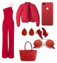 """""""Red ahoy"""" by larachapman on Polyvore featuring Cushnie Et Ochs, Barse, Tommy Hilfiger and Jeffrey Campbell"""