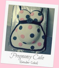 Gender reveal cake / Pregnancy reveal cake...... .If you like this cake please come along and like us at www.Facebook.com/Fuzzymuddlecakes ....please feel free to check out my other cakes all made by myself :) ENJOY