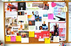 You can't achieve your goals if you can't see them. Make a physical vision board to put your goals front and center. (via @Jessica Ainscough) #visionboard #motivation #goals