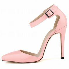 LI&HI Damen Vintage Stilvolle komfortable Lackleder flacher Mund Süßigkeiten Farbe hohlen Gürtelschnalle spitze Schuhe Sandalen Fußring Gurt High Heels - http://on-line-kaufen.de/li-hi/39-eu-li-hi-damen-vintage-stilvolle-komfortable-18