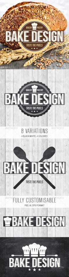 Bake Design Logo  #GraphicRiver        Details 	 Bake Design is a retro logo design, perfect for a bakery, coffee house or restaurant.    Including photoshop file  Including illustrator file  Including vector file  Fonts   Bebas Neue (free)  Big Noodle Titling (free)  Support 	 Need help, don't hesitate to contact us at our profile page.