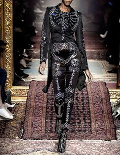 "themiseducationofb: "" "" People will stare. Make it worth their while → Moschino prêt-à-porter Haute Couture Style, Couture Mode, Couture Fashion, Runway Fashion, Dark Fashion, Gothic Fashion, Fashion Art, High Fashion, Fashion Outfits"