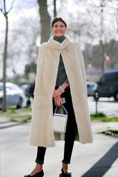 that positively luscious cape. Gio in Paris. #GiovannaBattaglia #WayneTippetts
