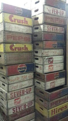 Arrivage de nouvelles caisses coca pepsi 7up...