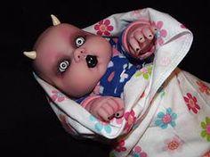 Preemie demon baby boy