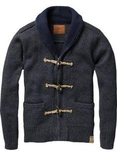 Cardigan vest with toggle closure