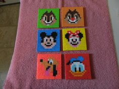 Mickey Mouse and friends coasters perler beads