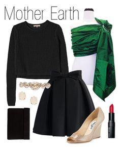 Mother Earth by myheartcreative on Polyvore featuring Rebecca Taylor, Chicwish, Jimmy Choo, Miu Miu, Kendra Scott and Bobbi Brown Cosmetics