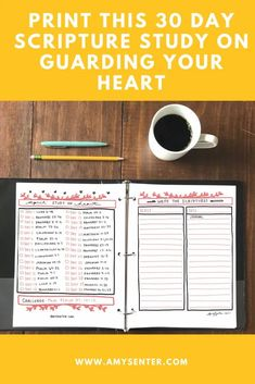 April: Print this 30 Day Bible Study on Guarding Your Heart Spiritual Life, Spiritual Growth, Pray For Love, Bible Timeline, Book Of Matthew, Book Outline, Guard Your Heart, Monthly Themes