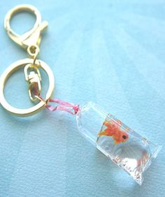 goldfish in a bag keychain/ bag charm - Jillicious charms and accessories - 3
