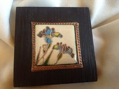 Irises cloisonné picture hand made by CiliaWorkshop on Etsy  For more info contact on may  email: judit_kovacs@hotmail.com