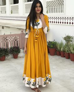 "4,456 Likes, 213 Comments - Bunaai By Pari Choudhary (@bunaai) on Instagram: ""- OUR ALL NEW MAXI DRESS MADE OUT OF 11 METERS FABRIC & HAS 8 METERS FLARE """