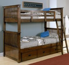Bunk Bed With Storage loft bed | palliser durham maple finish corner loft (bunk) bed