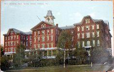 1911 Postcard: State Normal School, Main Building - Indiana, Pennsylvania PA