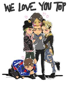 "jemowokannut: ""I wanted to draw something before he left… BigBang Fanart """