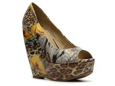 Zigi Soho Rush Printed Wedge Pump Prints Hot Spring Styles Women's Shoes - DSW
