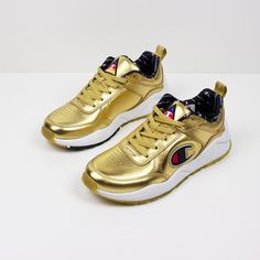 6f0ef0c95f4 Champion 93 Eighteen Metallic Gold Sneakers
