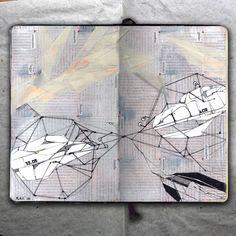 rougart drawing: SATELITE_collage, 2016_Mariasun Salgado