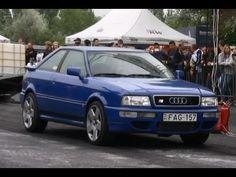 Audi S2 Coupe Turbo Vs. Audi 80 Coupe Turbo Drag Race HD