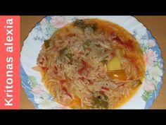 Κριθαράκι με λαχανικά!  | ENG SUBS  | kritonas alexia Rice Pasta, Delicious Dishes, Orzo, Greek Recipes, Dips, Cabbage, Grains, Vegetables, Food