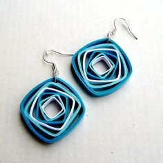… Paper Quilling Earrings, Origami And Quilling, Paper Quilling Designs, Quilling Craft, Quilling Patterns, Polymer Clay Earrings, Diy Earrings, Paper Jewelry, Paper Beads