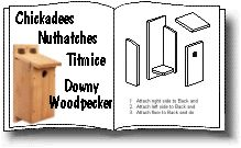 Nestbox for Chickadees, Nuthatches, Titmice and Downy Woodpeckers