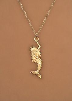 Gold mermaid necklace beach necklace sea princess necklace mermaid necklace gold mermaid necklace sea princess by buburuby aloadofball Gallery