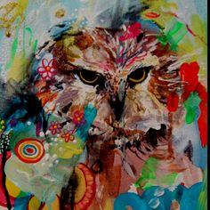 Owl in oil paint- LOVE, love, love this!
