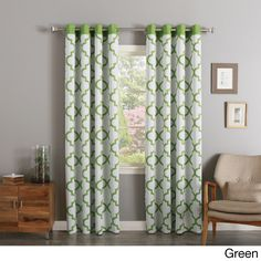 Aurora Home Moroccan Tile Print Room Darkening Grommet Curtain Pair 52 X 84