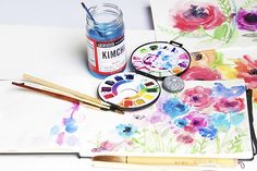 alisaburke: in the studio: watercolor blooms Watercolor Painting Techniques, Watercolour Tutorials, Watercolor Paintings, Watercolors, Floral Watercolor, Watercolor Ideas, Alisa Burke, 9th October, Artist Supplies