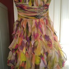 Prom dress Beautiful colors with AB stones. Worn once and stored in Garment bag. Party Time Dresses Prom