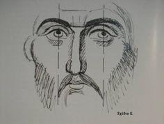 ΑΓΙΟΓΡΑΦΙΑ Byzantine Art, Byzantine Icons, Religious Icons, Religious Art, Writing Icon, Jesus Drawings, History Icon, Church Icon, Christian Paintings