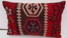 Modern Bohemian Home DecorTurkish Kilim Pillow 137 by ZaferCarpet, $48.00