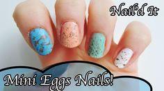 'Mini Eggs' Easter Nail Art Tutorial | Nail'd It!