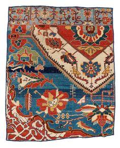 tribal nomadic rug, Qashqa'i vagireh, southwest Persia, last quarter 19th century. Lucy Lamkin collection.