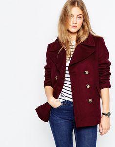 Image 1 ofASOS Jacket with Oversized Collar