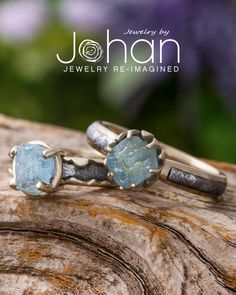 Jewelry by Johan's meteorite ring designs are fully customizable with different settings, profiles, and materials. #JewelrybyJohan Wood Engagement Ring, Meteorite Ring, Dinosaur Bones, Ring Earrings, Druzy Ring, Ring Designs, Jewelry, Jewellery Making