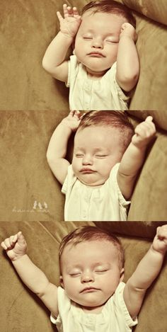 baby stretching photos. couldn't be sweeter.